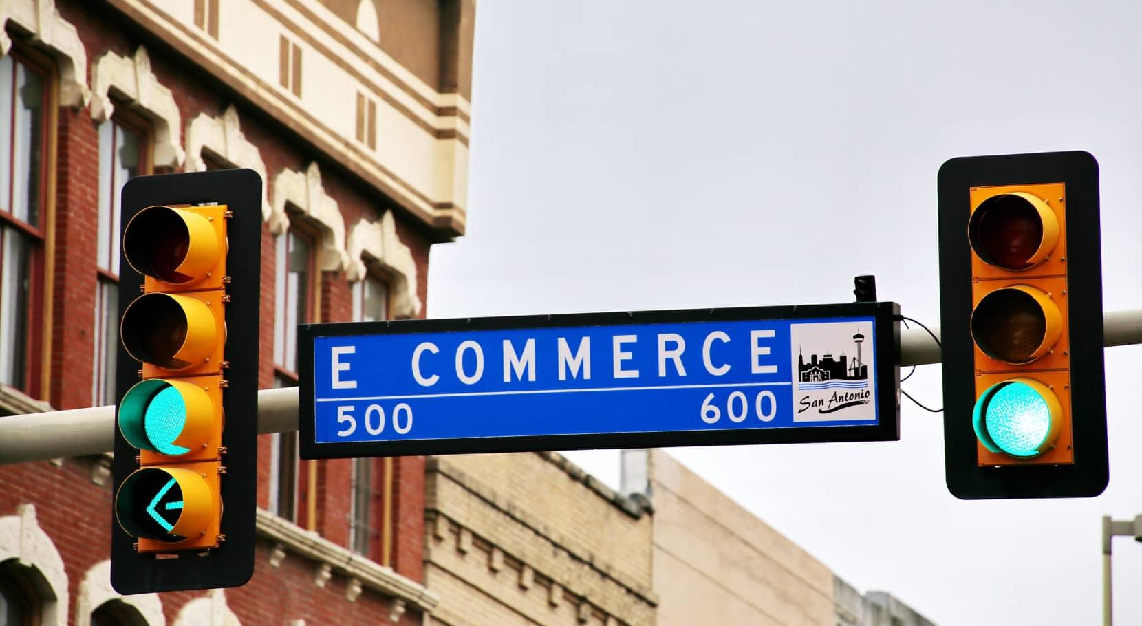 Panneau de signalisation e commerce