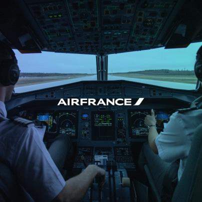 image présentation case client Air France